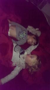 Stiekem slapen in het grote bed